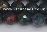 COJ314 15.5 inches 12mm faceted round Indian bloodstone beads