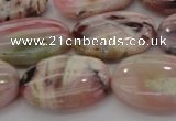 COP1276 15.5 inches 15*20mm oval natural pink opal gemstone beads
