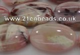 COP1278 15.5 inches 20*30mm oval natural pink opal gemstone beads