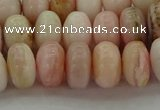 COP1288 15.5 inches 6*10mm rondelle natural pink opal beads