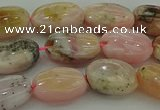 COP1290 15.5 inches 8*12mm oval natural pink opal beads