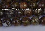 COP1372 15.5 inches 8mm round fire lace opal beads wholesale