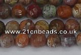 COP1394 15.5 inches 6mm faceted round African green opal beads