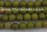 COP1400 15.5 inches 4mm round yellow opal gemstone beads