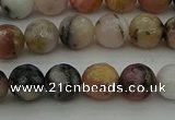 COP1413 15.5 inches 10mm faceted round natural pink opal gemstone beads
