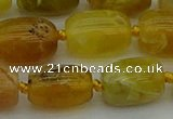 COP1422 15.5 inches 13*18mm drum yellow opal gemstone beads