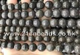 COP1447 15.5 inches 10mm - 11mm round blue opal gemstone beads