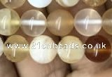 COP1457 15.5 inches 8mm round yellow opal gemstone beads