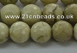 COP1473 15.5 inches 10mm faceted round African opal gemstone beads