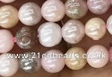 COP1540 15.5 inches 4mm round AB-color natural pink opal beads