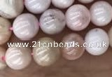 COP1541 15.5 inches 6mm round AB-color natural pink opal beads