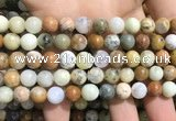 COP1568 15.5 inches 8mm round yellow moss opal beads wholesale