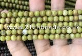COP1572 15.5 inches 4mm round Australia olive green opal beads