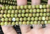 COP1573 15.5 inches 6mm round Australia olive green opal beads
