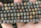 COP1579 15.5 inches 6mm round Australia brown green opal beads