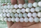 COP1637 15.5 inches 10mm round natural green opal beads