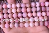 COP1744 15.5 inches 9mm faceted round natural pink opal beads