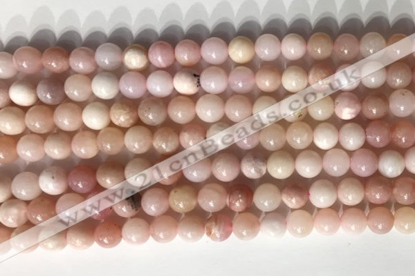 COP1796 15.5 inches 6mm round pink opal gemstone beads