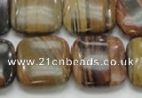 COP247 15.5 inches 20*20mm square natural brown opal gemstone beads
