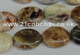 COP317 15.5 inches 15*20mm oval brandy opal gemstone beads wholesale