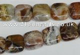 COP321 15.5 inches 12*12mm square brandy opal gemstone beads wholesale