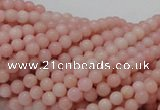COP401 15.5 inches 4mm round Chinese pink opal gemstone beads