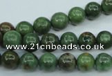 COP652 15.5 inches 8mm round green opal gemstone beads wholesale