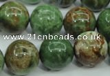 COP657 15.5 inches 18mm round green opal gemstone beads wholesale