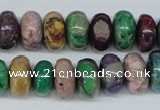 COP864 15.5 inches 8*14mm rondelle dyed African opal gemstone beads