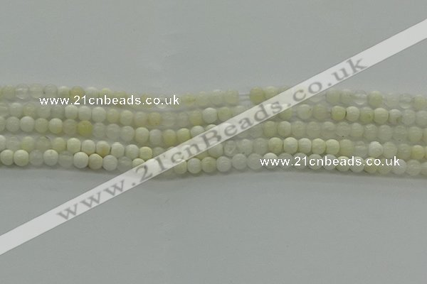COP920 15.5 inches 4mm round white opal gemstone beads