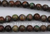 COP986 15.5 inches 8mm round green opal gemstone beads wholesale