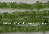 COQ61 15.5 inches 3*7mm natural olive quartz chips beads wholesale