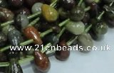COS02 15.5 inches 6*10mm teardrop ocean stone beads wholesale