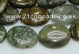 COS06 15.5 inches 15*20mm oval ocean stone beads wholesale