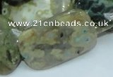 COS10 15.5 inches 25*35mm rectangle ocean stone beads wholesale