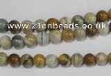COS161 15.5 inches 6mm round ocean stone beads wholesale