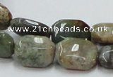 COS25 15.5 inches 13*18mm octagonal ocean stone beads wholesale