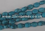 COV06 15.5 inches 6*8mm oval synthetic turquoise beads wholesale