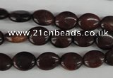 COV11 15.5 inches 8*10mm oval red tiger eye beads wholesale