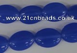 COV122 15.5 inches 13*18mm oval candy jade beads wholesale