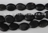 COV14 15.5 inches 8*10mm oval blackstone gemstone beads wholesale