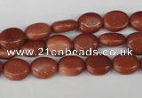 COV15 15.5 inches 8*10mm oval goldstone gemstone beads wholesale