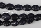 COV16 15.5 inches 8*10mm oval blue goldstone gemstone beads wholesale