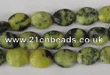 COV22 15.5 inches 8*10mm oval yellow turquoise beads wholesale