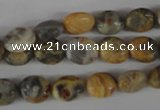 COV26 15.5 inches 8*10mm oval crazy lace agate beads wholesale