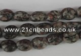COV31 15.5 inches 8*10mm oval leopard skin jasper beads wholesale