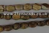 COV34 15.5 inches 8*10mm oval picture jasper beads wholesale