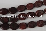 COV35 15.5 inches 8*10mm oval brecciated jasper beads wholesale