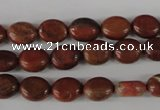 COV36 15.5 inches 8*10mm oval red jasper beads wholesale