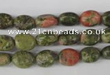 COV38 15.5 inches 8*10mm oval unakite gemstone beads wholesale